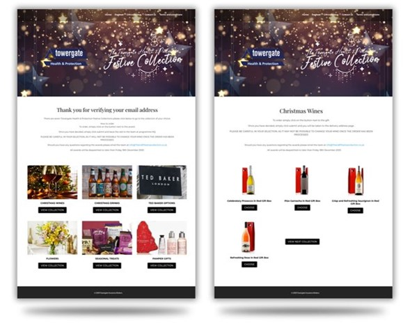 Corporate Gifting Website Example