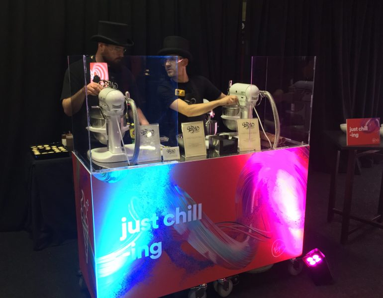 Ice cream stand at a corporate conference