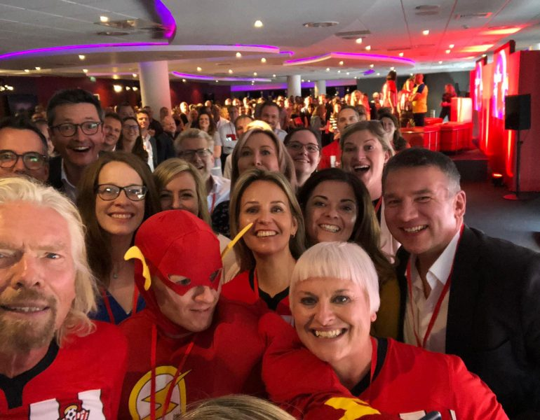 Richard Branson joins the Virgin Media conference